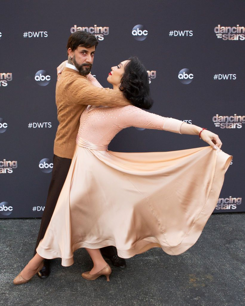 """AJ McClean and Cheryl Burke during """"Villains Night"""" on October 26, 2020 