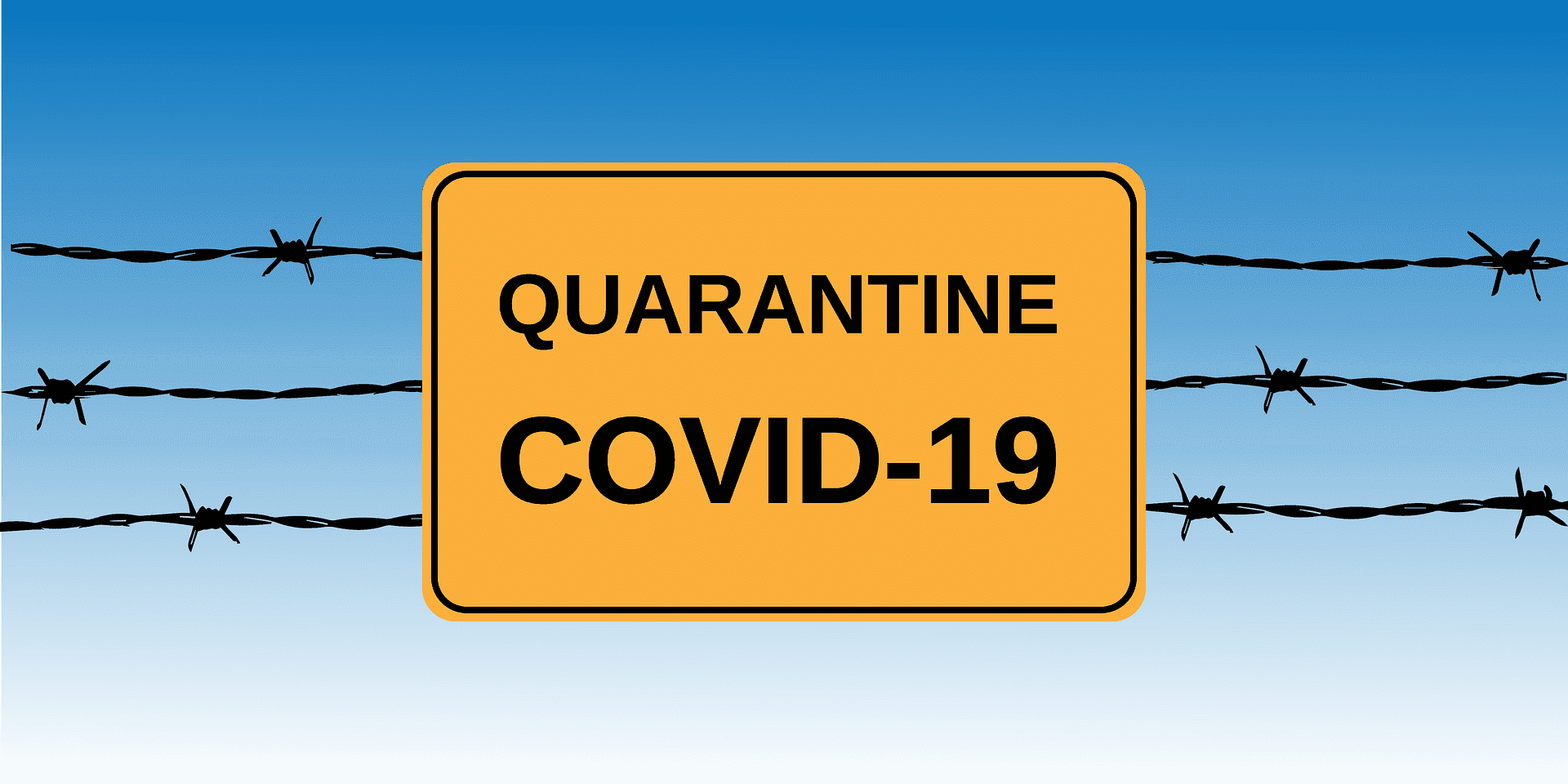 insigne de quarantaine au coronavirus | Source : Getty Images