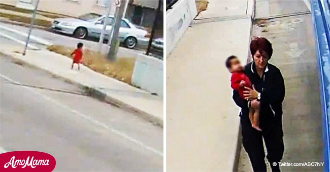Bus driver spots wandering barefoot baby in freezing cold and goes above the call of duty