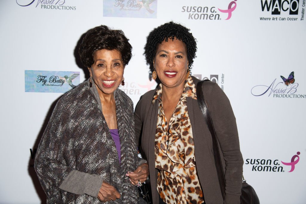 "Marla Gibbs and Angela Gibbs attends the opening night of WACO Theater Center's ""Letters From Zora"" on May 11, 2018 