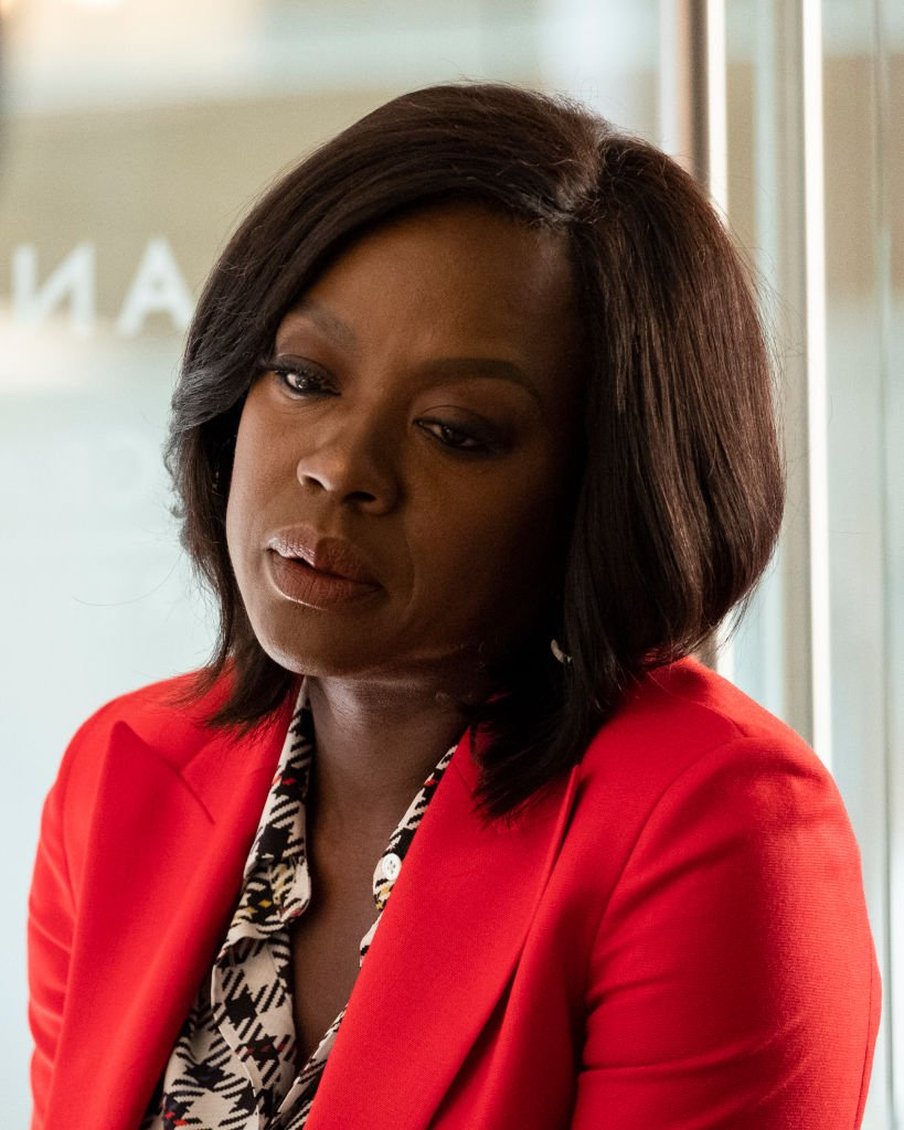 """Actress Viola Davis sits in an office as she plays Annalise Keating on """"How To Get Away with Murder"""" in December 2018 