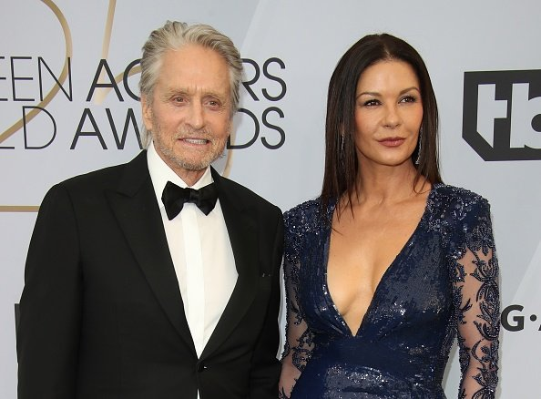 Michael Douglas and Catherine Zeta-Jones attend the 25th Annual Screen Actors Guild Awards at The Shrine Auditorium on January 27, 2019 in Los Angeles, California   Photo: Getty Images
