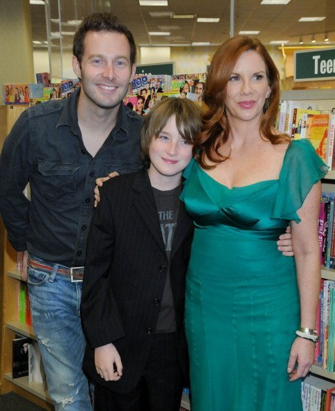 "Melissa Gilbert and sons Sam and Michael at the signing of her book, ""Prairie Tale: A Memoir"" on June 15, 2009 