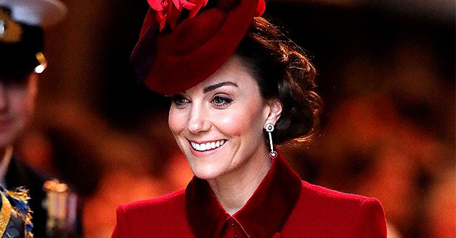 Kate Middleton Stunned in Elegant Red Coat Dress & Matching Fascinator for Commonwealth Day Service