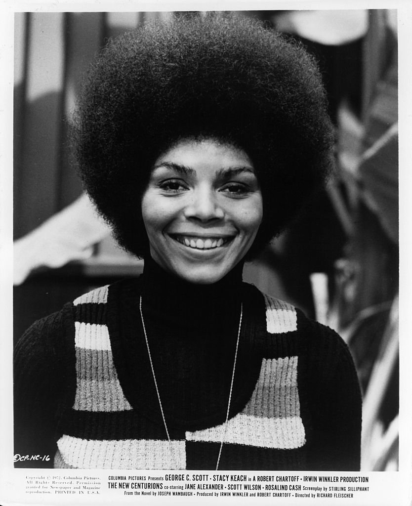 Rosalind Cash smiling in a scene from the film 'The New Centurions', 1972. | Photo: Getty Images