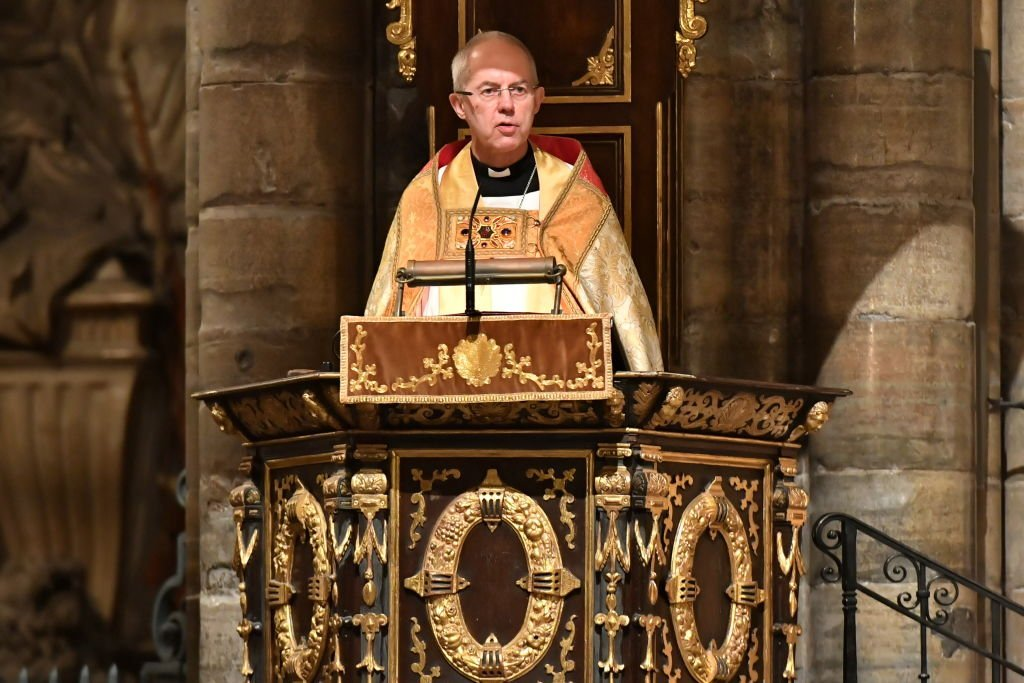 Archbishop of Canterbury Justin Welby speaks at a service in Westminster Abbey to celebrate the contribution of Christians in the Middle East   Photo: Getty Images