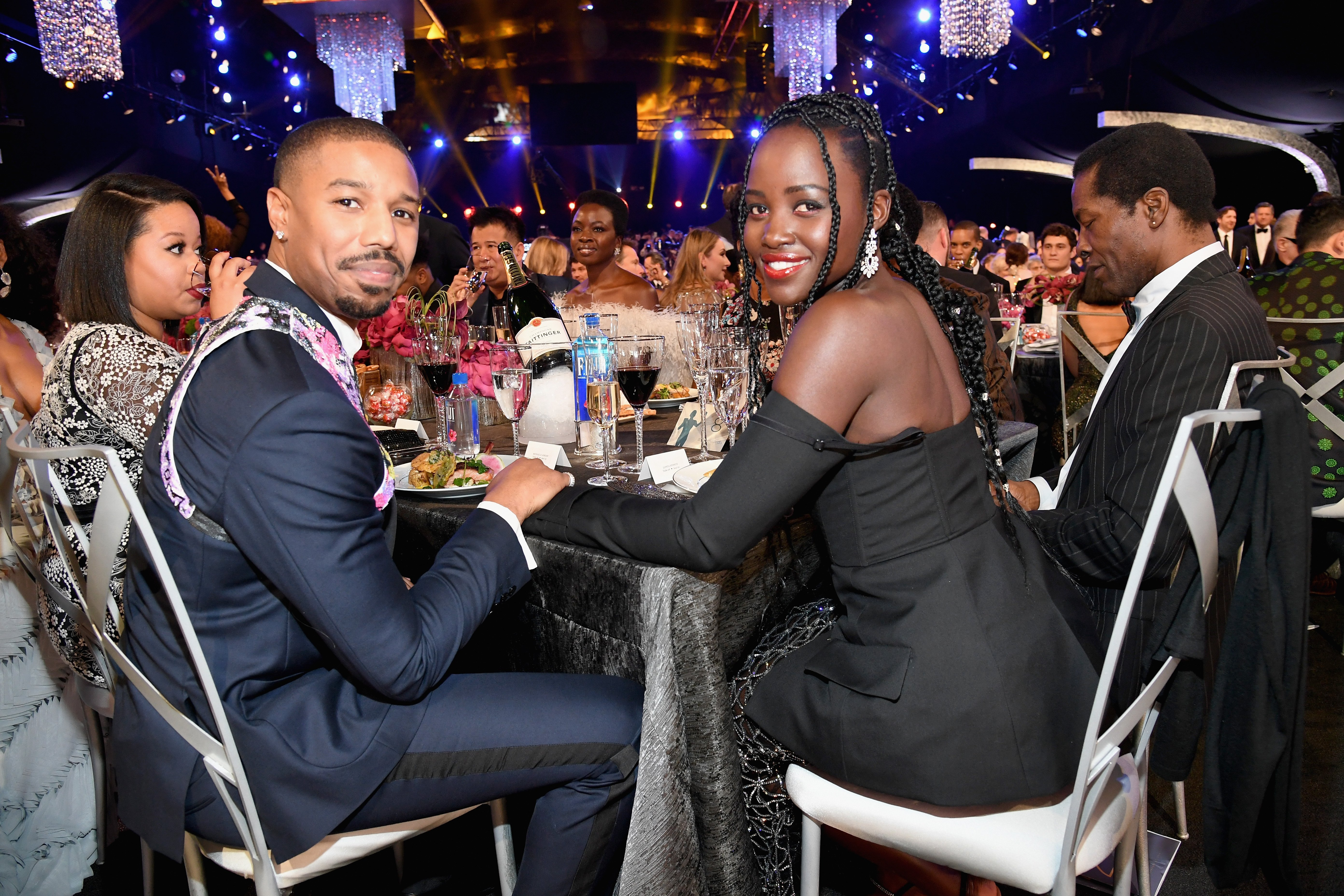 Michael B Jordan and Lupita Nyong'o attend the Annual Screen Actors Guild Awards in Los Angeles on January 27, 2019 | Photo: Getty Images