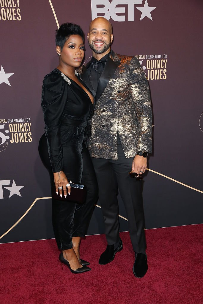 """Fantasia Barrino and her husban Kendall Taylor arrive at """"Q 85: A Musical Celebration for Quincy Jones"""" on September 25,2018in Los Angeles, California 