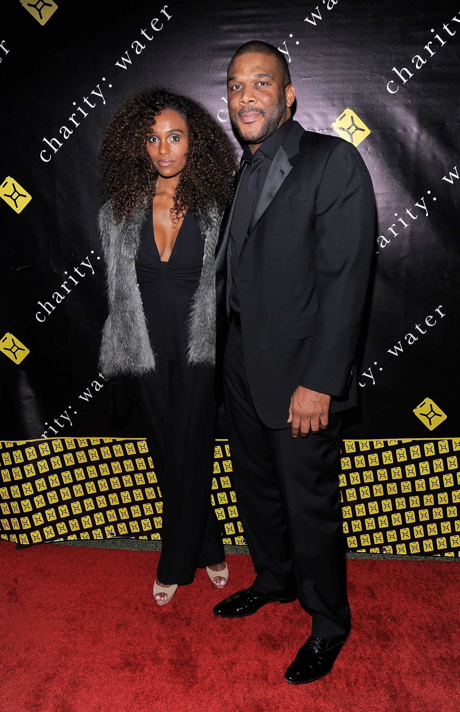 Gelila Bekele and Tyler Perry pose at the 6th Annual Charity: Ball on December 12, 2011 l Source: Getty Images