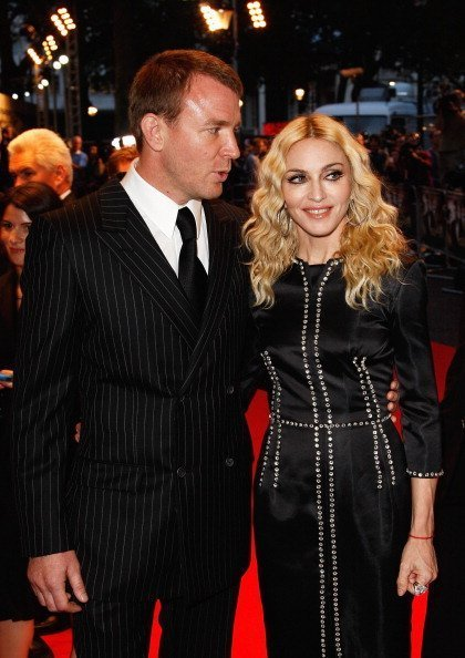 """Guy Ritchie and Madonna attend the World Premiere of """"RocknRolla"""" on September 1, 2008 
