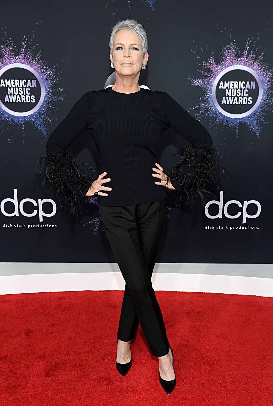 Jamie Lee Curtis at the American Music Awards at Microsoft Theater on November 24, 2019, in Los Angeles, California | Photo: Kevin Mazur/Getty Images