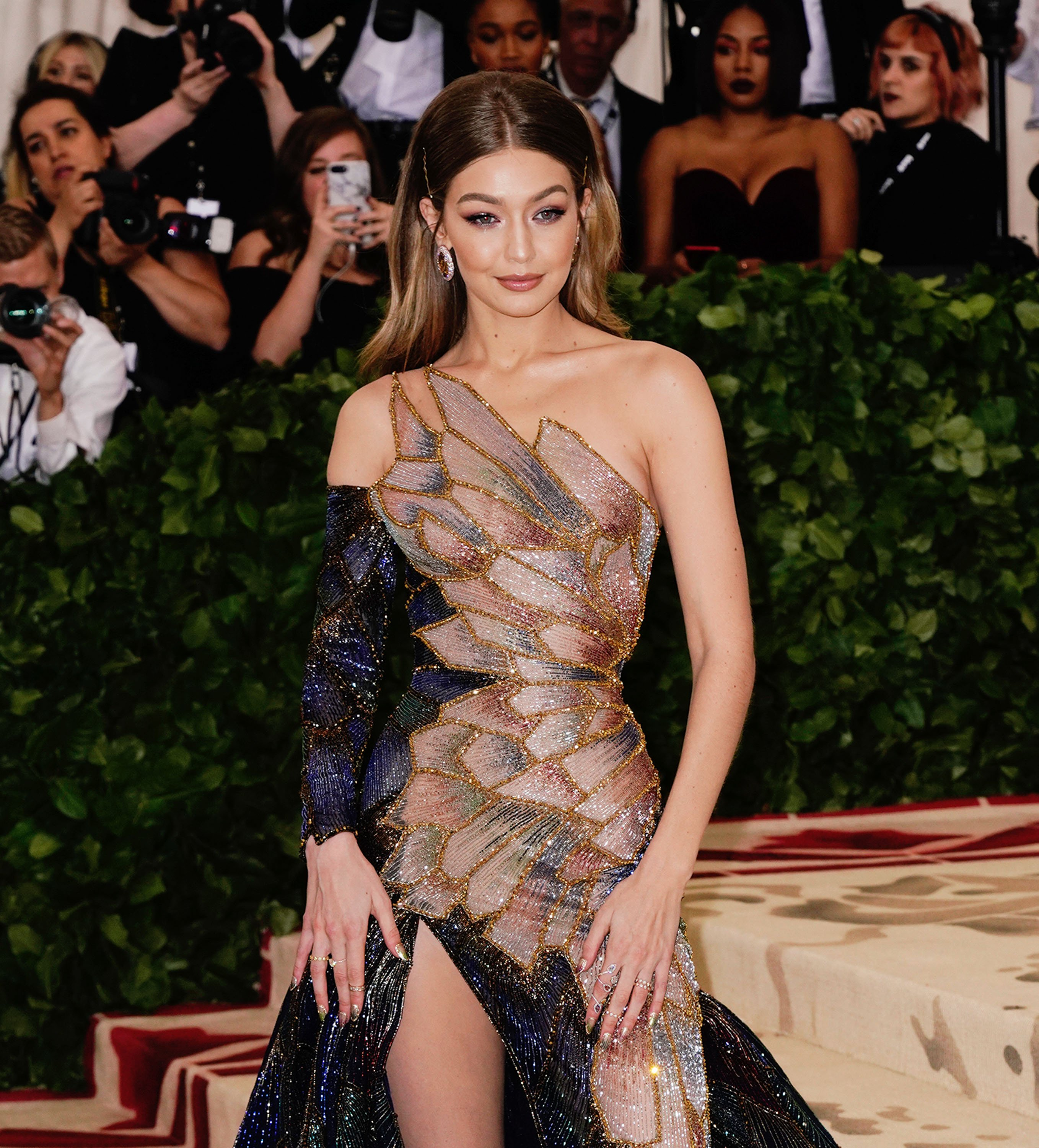 Gigi Hadid pictured at the Heavenly Bodies: Fashion & The Catholic Imagination Costume Institute Gala at Metropolitan Museum of Art, 2018, New York City. | Photo: Getty Images