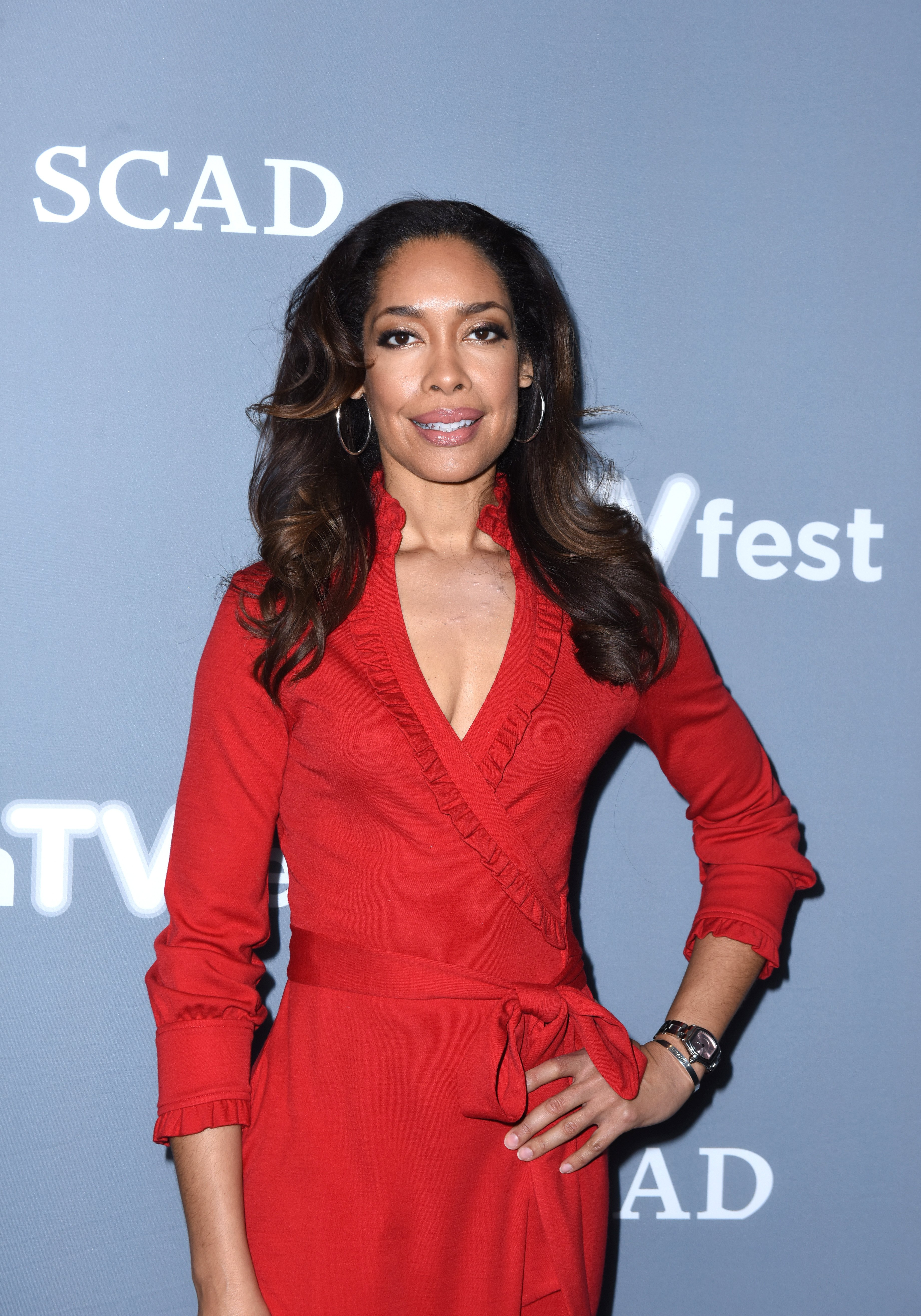 """Gina Torres attends a press junket for """"The Catch"""" on Day Three of aTVfest 2017 presented by SCAD on February 4, 2017 in Atlanta, Georgia 