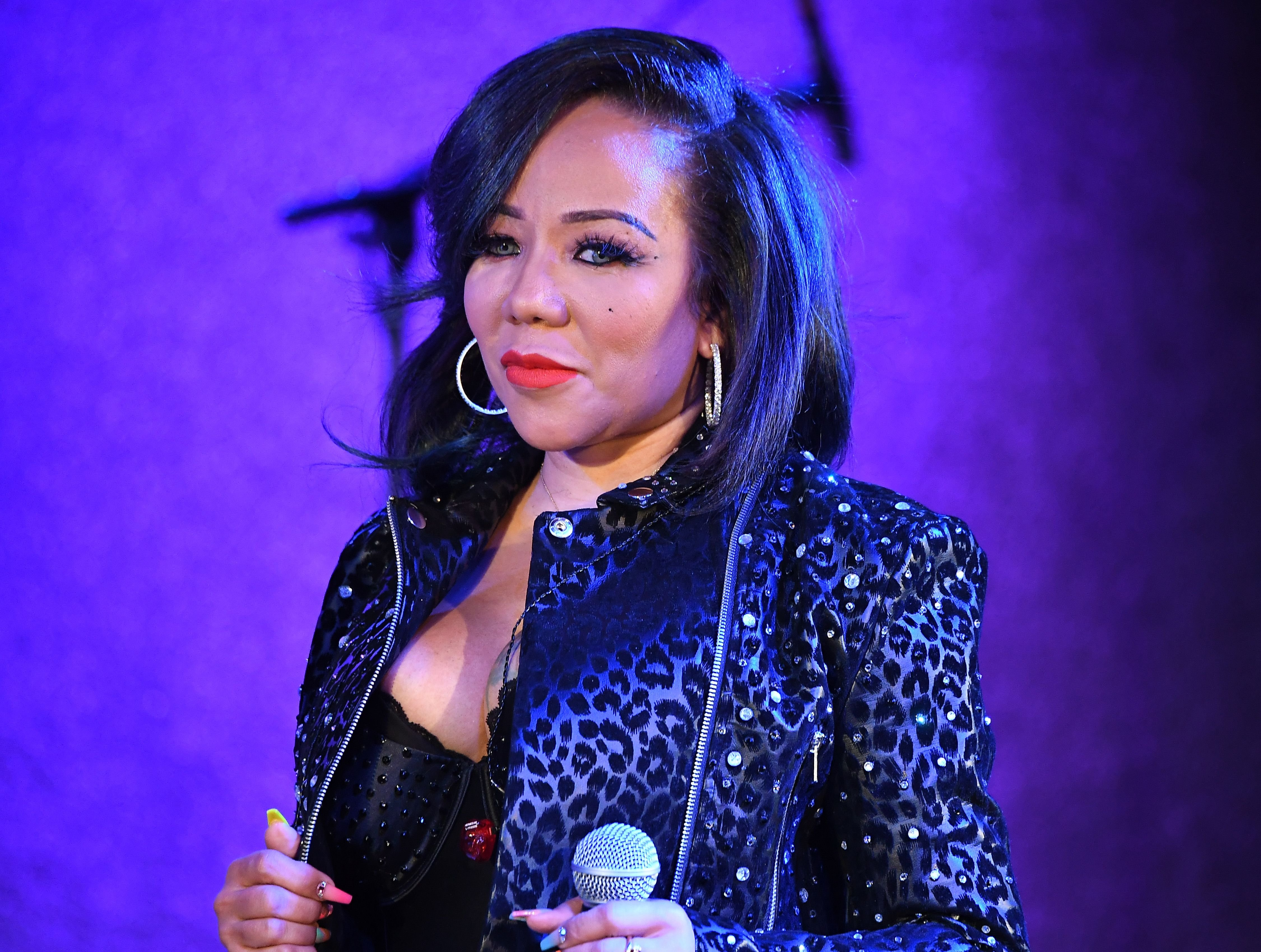 """Tameka """"Tiny"""" Harris speaks onstage at Majic 107.5 After Dark at City Winery on September 03, 2019 
