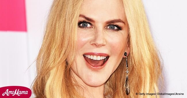 Nicole Kidman, 50, looks completely unrecognizable as she rocks a very spiky platinum mullet