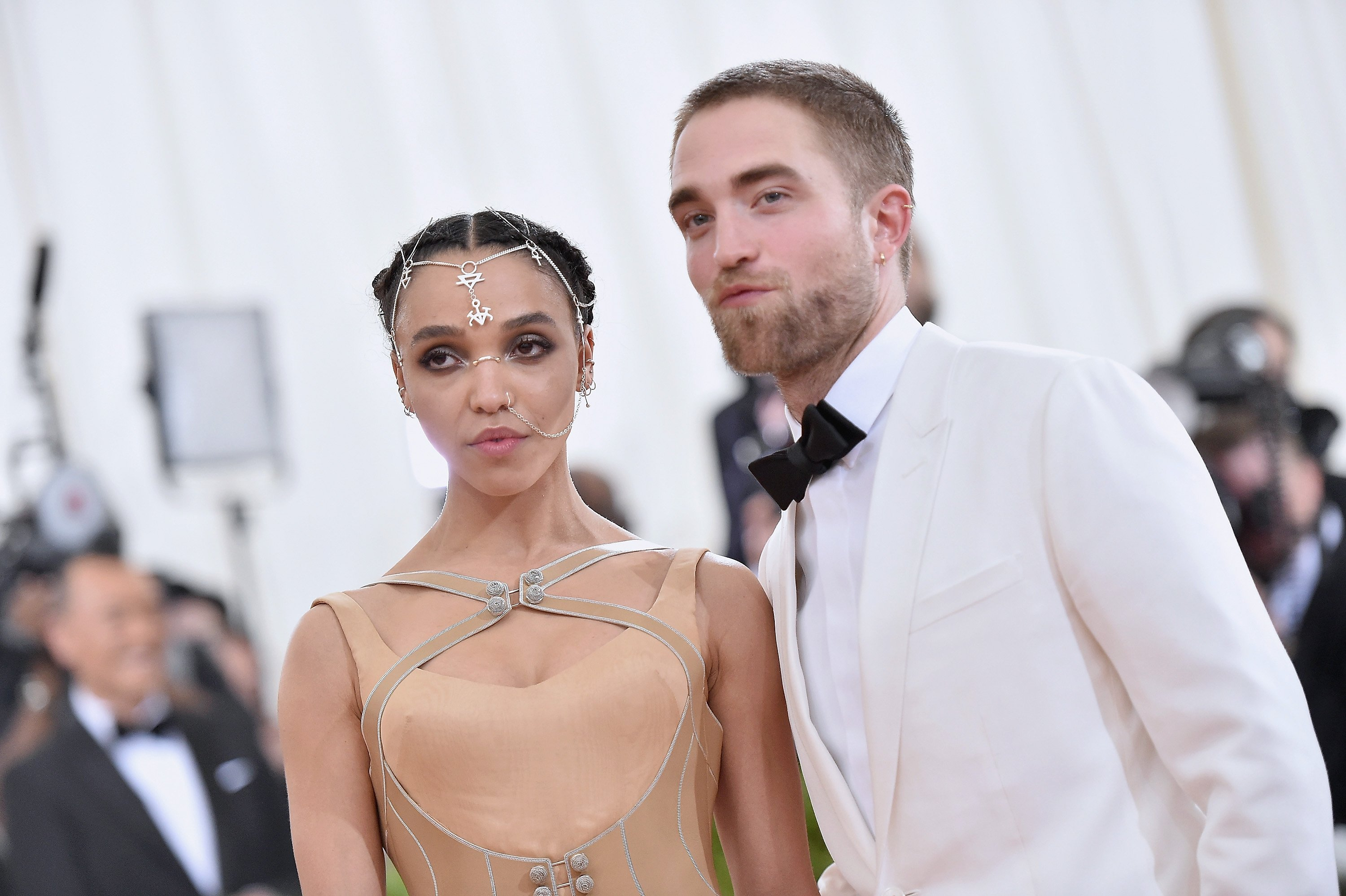 FKA Twigs and Robert Pattinson at the Costume Institute Gala at Metropolitan Museum of Art on May 2, 2016 in New York City. Source: Getty Images