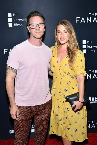 Devon Sawa and Dawni Sahanovitch at the Egyptian Theatre on August 22, 2019 in Hollywood, California. | Photo: Getty Images
