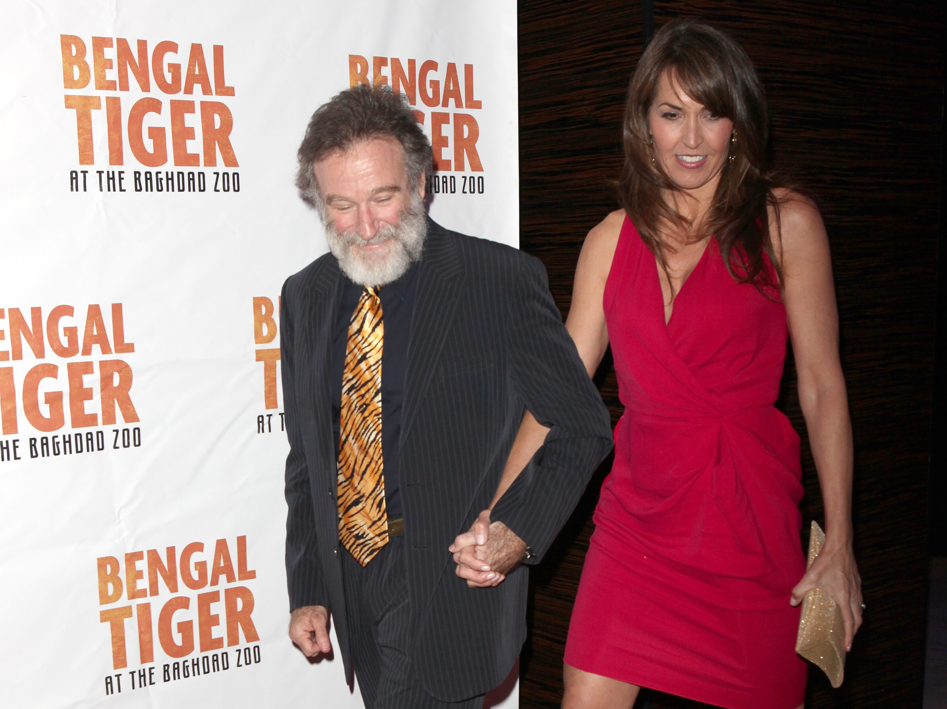 "Robin Williams and Susan Schneiderat The Opening Night After Party for ""Bengal Tiger at the Baghdad Zoo"" in 2011 