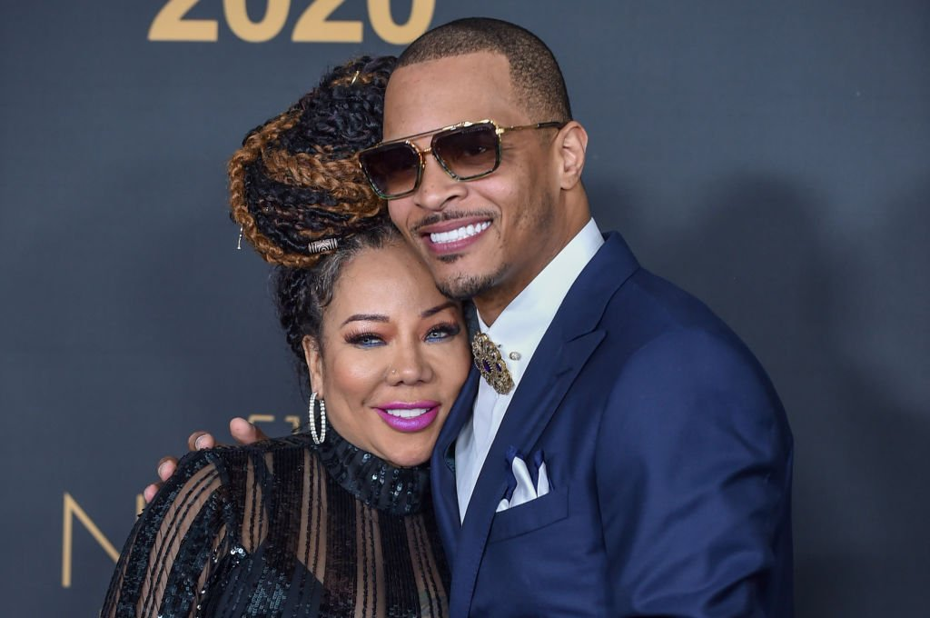 """Tameka """"Tiny"""" Cottle and T.I. at the 51st NAACP Image Awards 