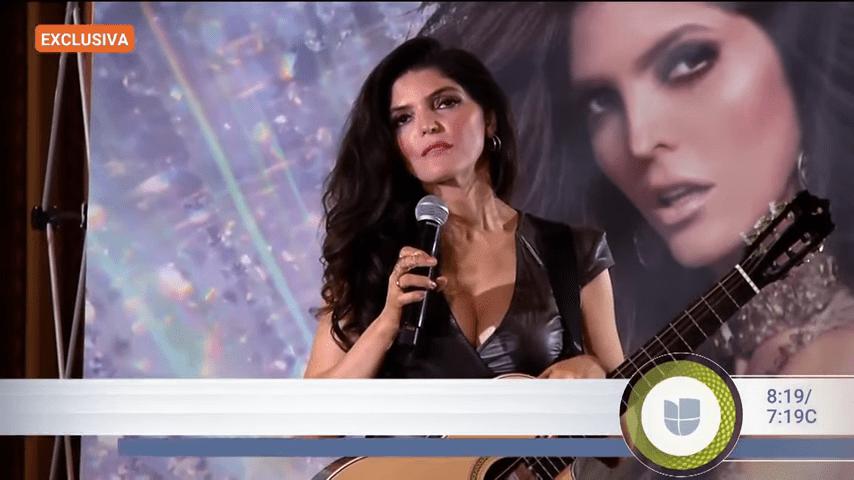 Ana Bárbara rompe en llanto en el escenario │Imagen tomada de: YouTube/ Despierta América