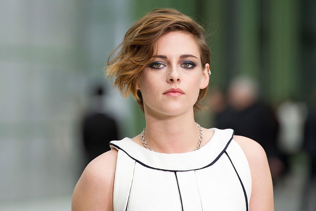 Kristen Stewart during the Chanel show as part of Paris Fashion Week Haute Couture Spring/Summer 2015 at the Grand Palais on January 27, 2015 in Paris, France. | Source: Getty Images