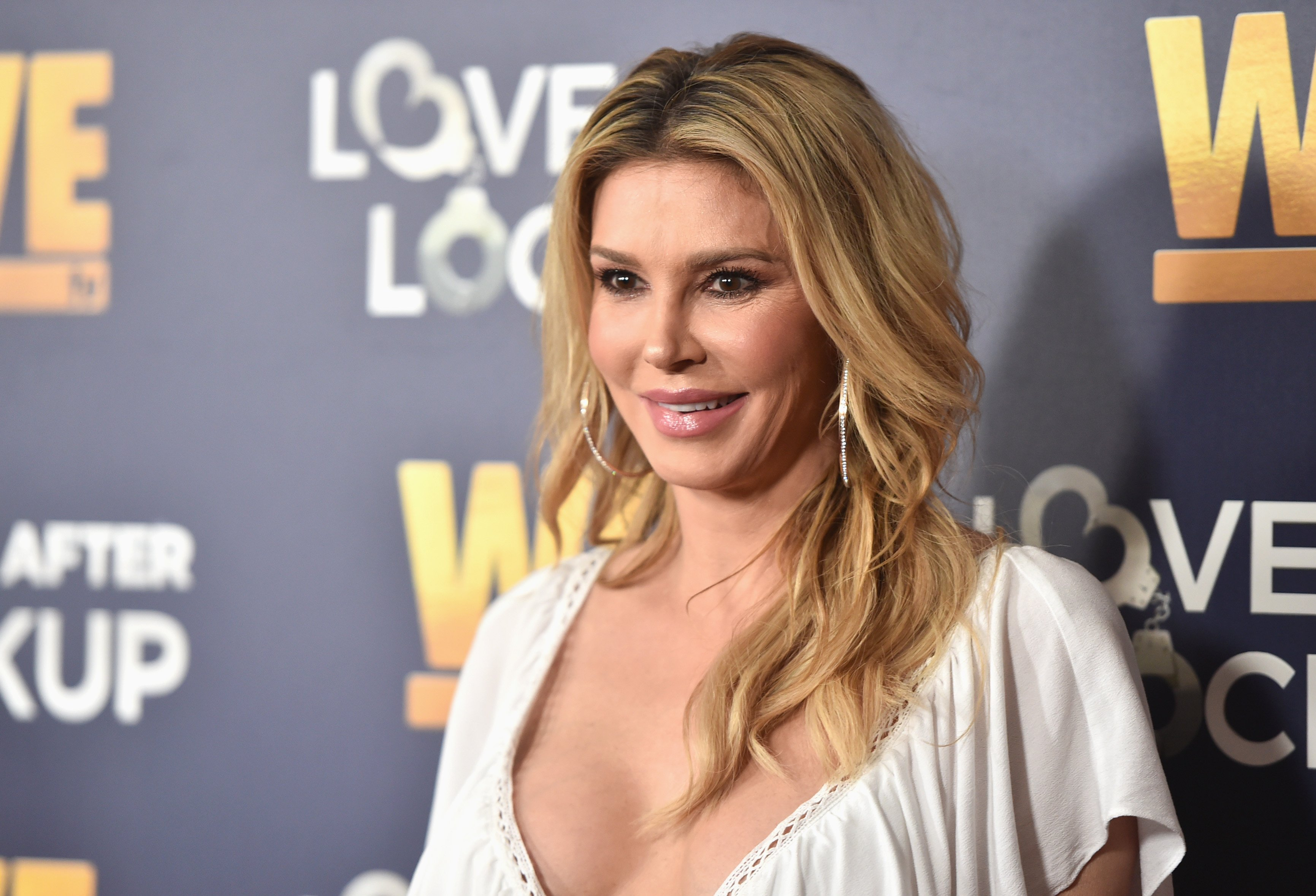 """Brandi Glanville attends WE TV's celebration of the return of """"Love After Lockup"""" with panel, """"Real Love: Relationship Reality TV's Past, Present & Future,"""" at The Paley Center for Media on December 11, 2018 in Beverly Hills, California 