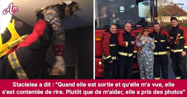Une femme de 30 ans tombe à travers le plafond lors d'une chasse aux décorations de Noël