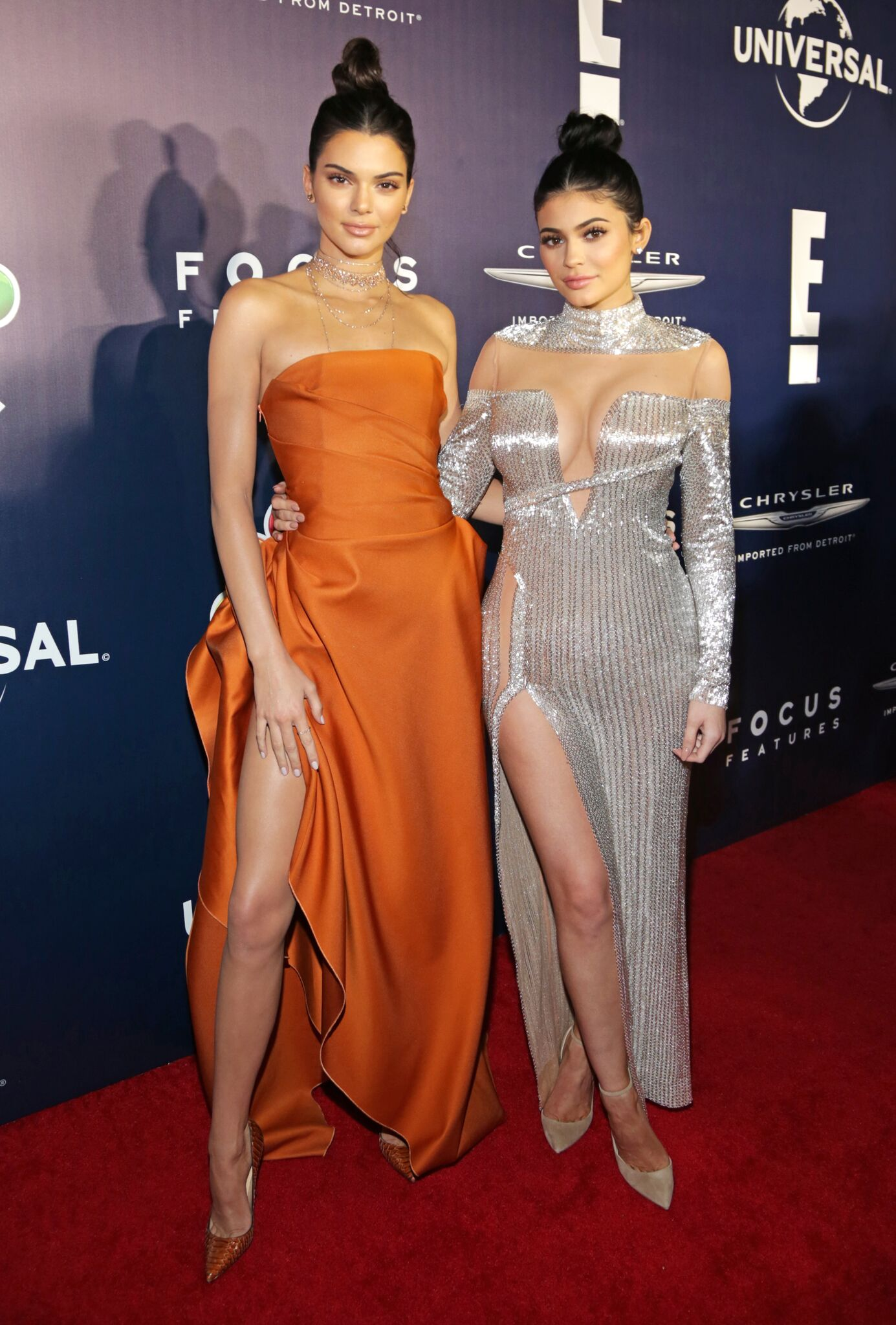 Kendall Jenner and Kylie Jenner attend NBCUniversal's 74th Annual Golden Globes After Party | Getty Images