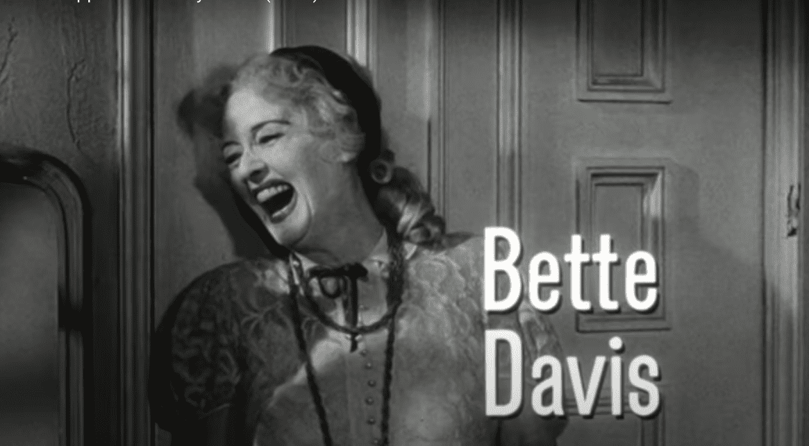 "Bette Davis in the film ""What Ever Happened to Baby Jane?"" 