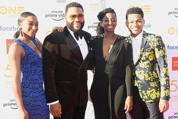Anthony Anderson and family at the 50th NAACP Image Awards at Dolby Theatre on March 30, 2019 | Photo:Getty Images