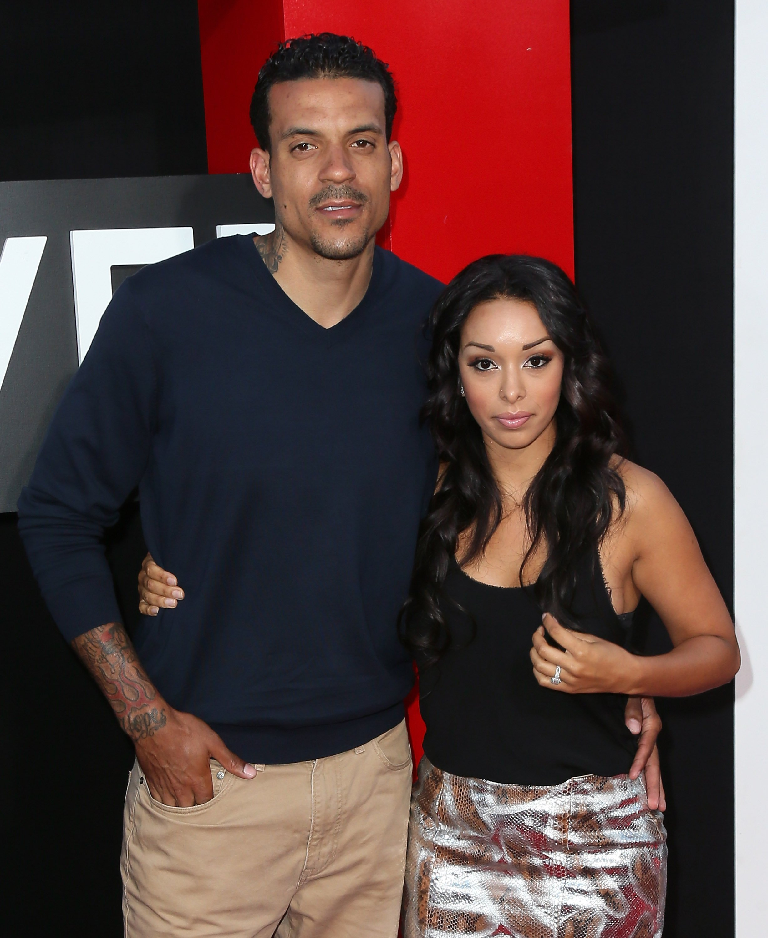 """Matt Barnes and Gloria Govan attend the premiere of Warner Bros. Pictures' """"Hangover Part III"""" on May 20, 2013 in Westwood, California.  