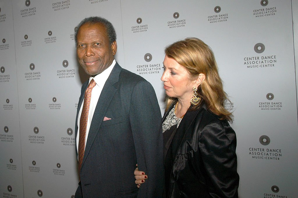 "Sidney Poitier and Joanna Shimkus at Center Dance Association and Alvin Ailey Dance Theatre host ""THRILL. THEN CHILL."" benefit after party on February 24, 2006 