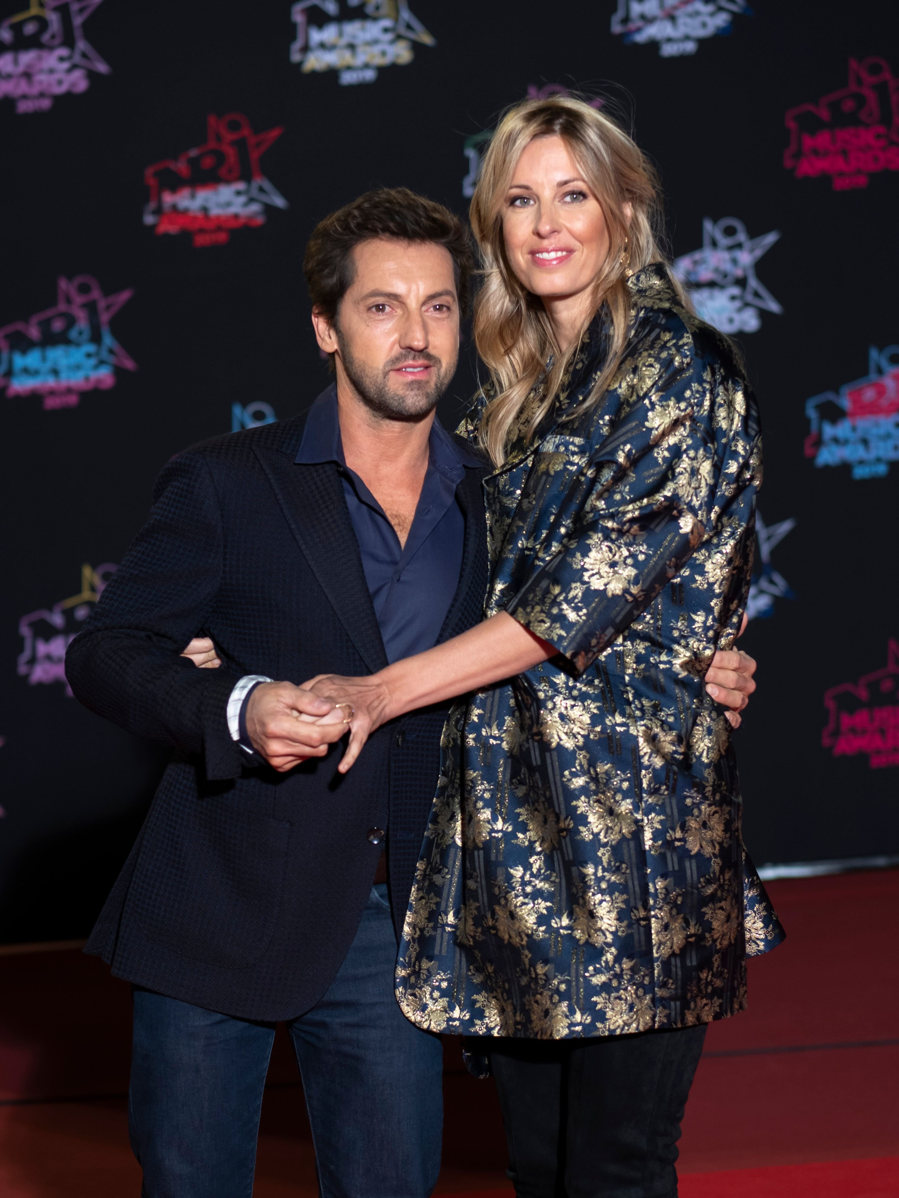 Frederic Diefenthal et Gwendoline Hamon assiste à la 21e NRJ Music Awards au Palais des Festivals le 09 novembre 2019 à Cannes, France.  | Photo : Getty Images