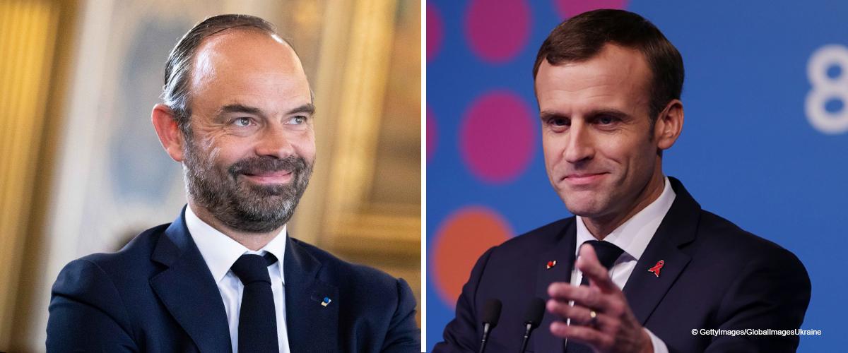 """La photo d'Emmanuel Macron et Edouard Philippe, """"hilares"""" devant Notre-Dame devient polémique"""