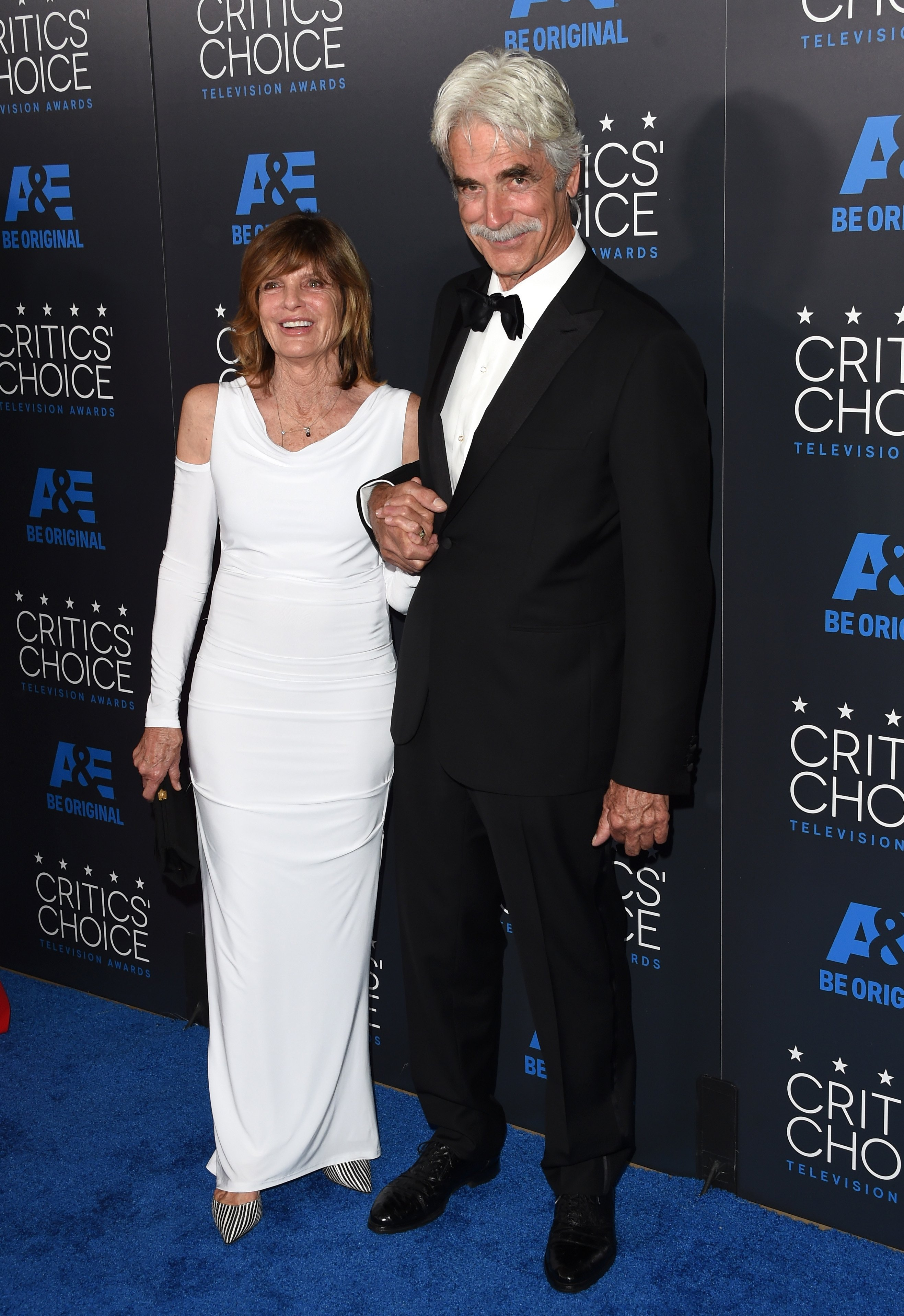Western TV and movie star Sam Elliott and actress Katherine Ross attend the 2015 Annual Critics' Choice Television Awards in Beverly Hills. | Photo: Getty Images