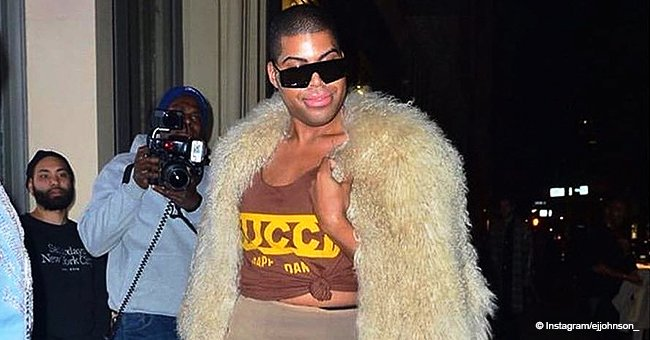 Magic Johnson's son EJ turns heads in Gucci top & see-through skirt during night out in new pic