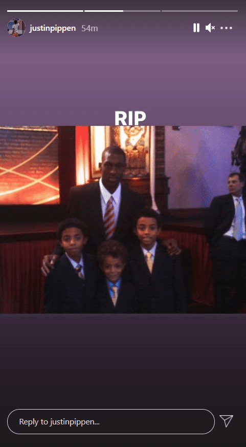 Larsa Pippen's son, Justin, mourns the death of his brother Antron   Photo: Instagram/justinpippen
