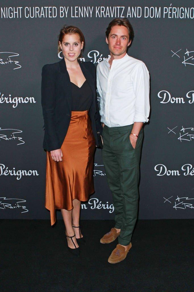 Princess Beatrice and Edoardo Mapelli Mozzi attend the Lenny Kravitz & Dom Perignon 'Assemblage' exhibition. | Source: Getty Images