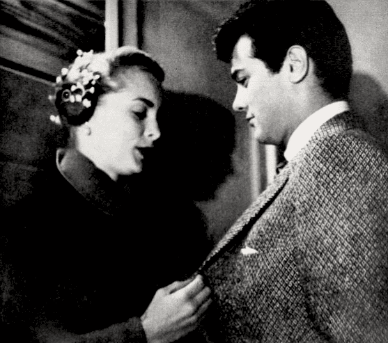 """Janet Leigh and Tony Curtis in a 1951 Photoplay article entitled """"Bronx Express."""" 