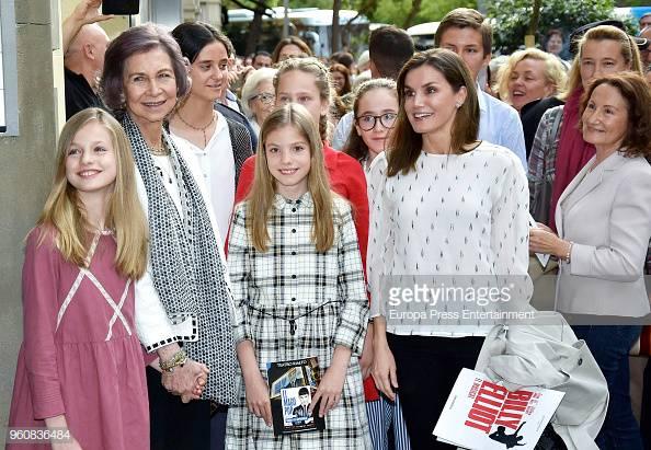 Reina Sofia, Reina Letizia, Princesa Leonor, Princesa Sofía, Irene Urdangarin, Victoria Federica de Marichalar y Paloma Rocasolano    Fuente: Getty Images