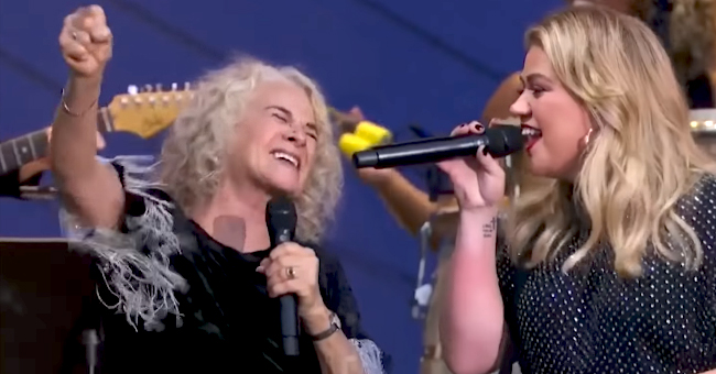 Kelly Clarkson Teams up with Carole King to Perform 'Where You Lead' at the Global Citizen Festival in NYC
