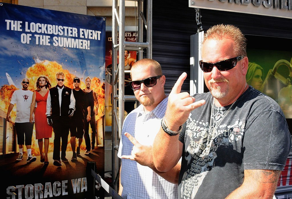 Darrell Sheets and Brandon Sheets at A&E's 'Storage Wars' Lockbuster Tour held in front of the Dobly Theater at Hollywood & Highland on June 12, 2012 | Photo: Getty Images