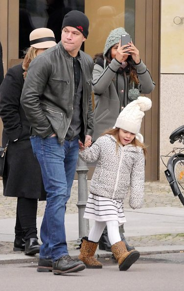 Matt Damon and his family sighted walking in Berlin-Mitte on November 22, 2015 in Berlin, Germany. | Photo: Getty Images