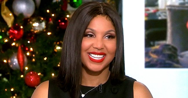 Toni Braxton's Son Diezel Resembles His Mom Rocking a White Sweater & Braided Pigtails (Photo)