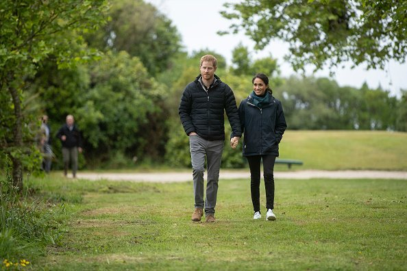 Prince Harry and Meghan attend Totaranui Campground in the Abel Tasman National Park on October 29, 2018, in Wellington, New Zealand. | Source: Getty Images.