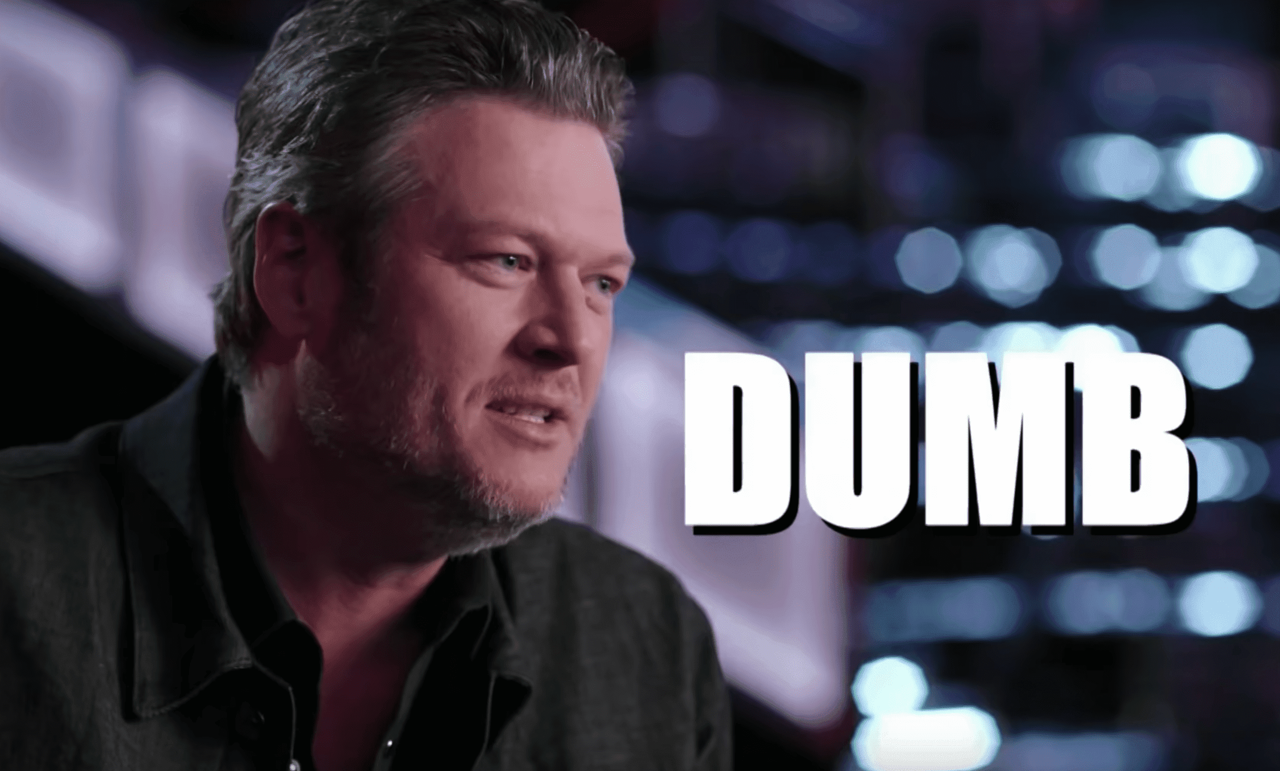 Blake Shelton in the set of 'The Voice'.   Source: YouTube/TheVoice