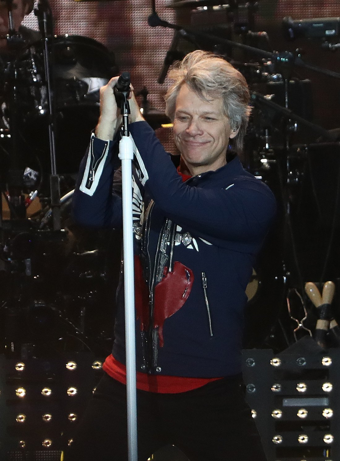 """Jon Bon Jovi performing during the """"Bon Jovi This House Is Not For Sale"""" Tour. 
