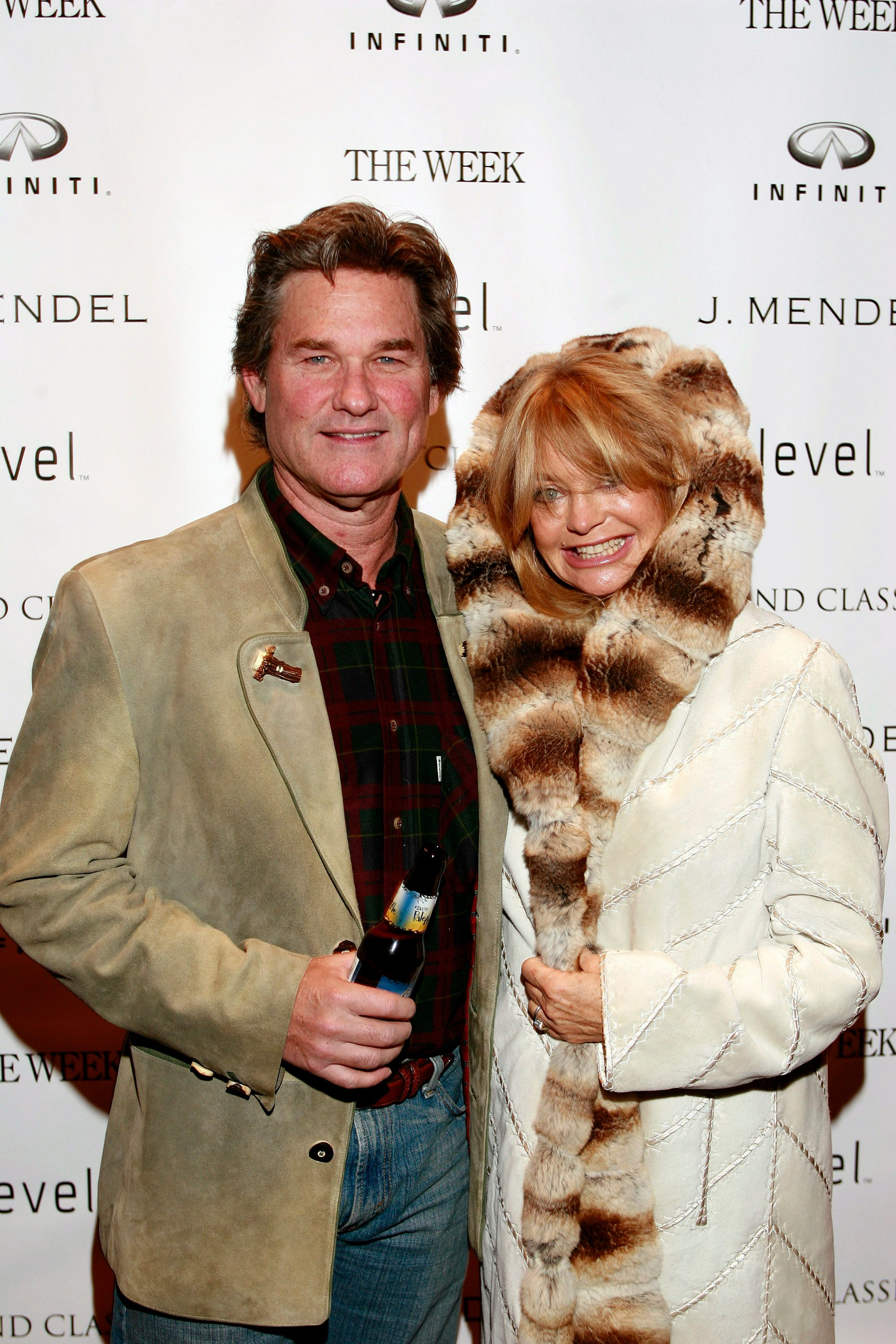 "Kurt Russell and Goldie Hawn at the screening of ""To Kill a Mockingbird"" on December 29, 2005, in Aspen, Colorado 
