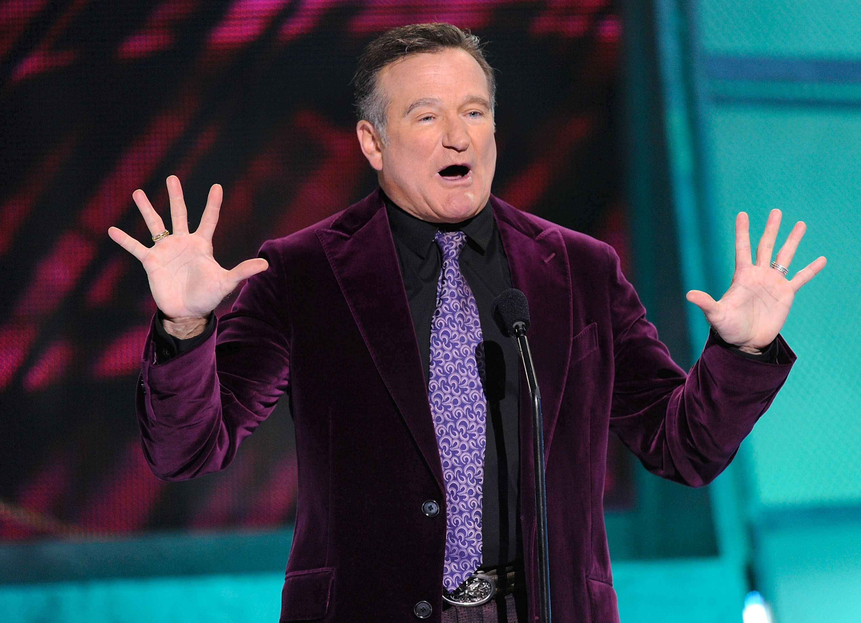 The late Robin Williams during the 35th Annual People's Choice Awards held at the Shrine Auditorium on January 7, 2009 in Los Angeles, California.   Photo: Getty Images