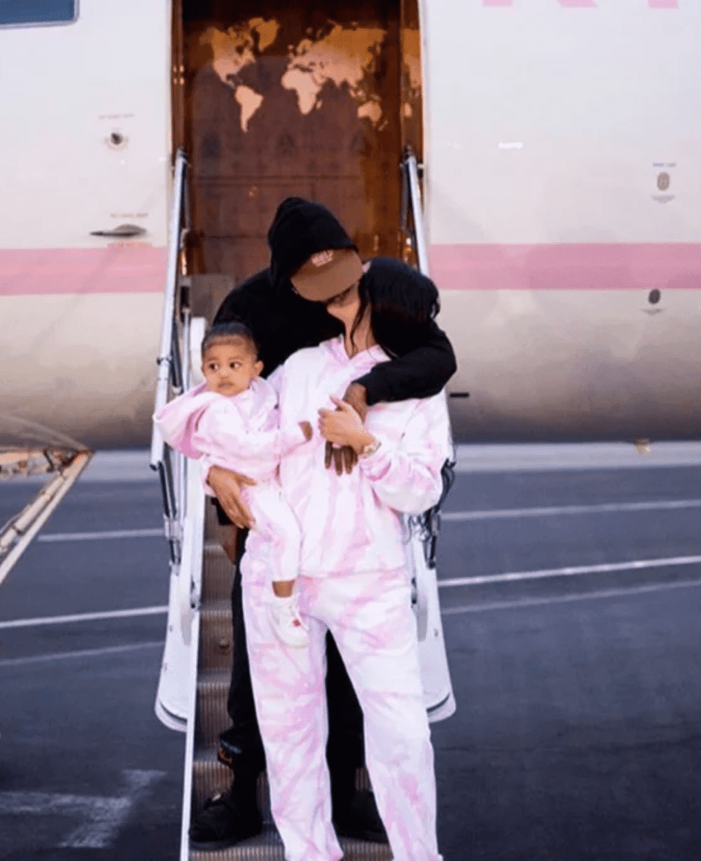 Travis Scott, Kylie Jenner and Stormi Webster. | Source: Instagram/kyliejenner